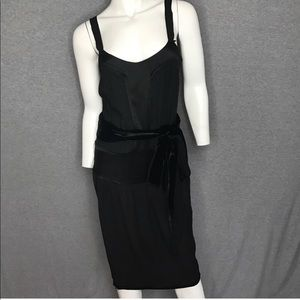 Stella McCartney H&M black silk dress NWT sz 34